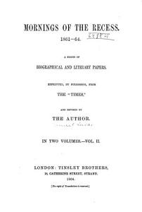 Mornings of the Recess  1861 4 PDF