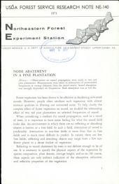 Noise abatement in a pine plantation