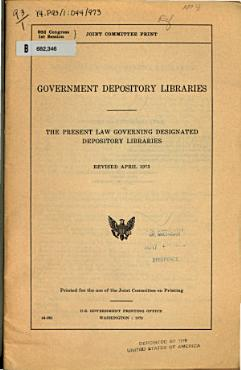 Government Depository Libraries PDF