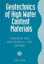 Geotechnics Of High Water Content Materials Book PDF