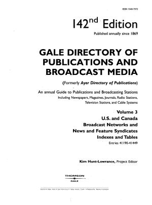 Gale Directory of Publications   Broadcast Media 142 V3 PDF