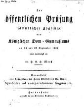 Symbolae ad comparationem linguarum