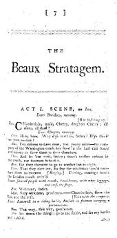 The Beaux Stratagem. A Comedy, Etc. [By G. Farquhar.]