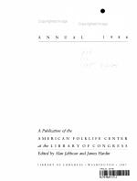Folklife Annual  1986 PDF