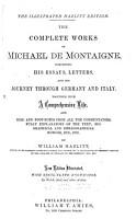The Complete Works of Michael de Montaigne PDF