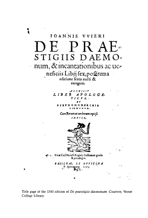 Witches  Devils  and Doctors in the Renaissance