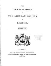 Transactions of the Linnean Society: Volume 29