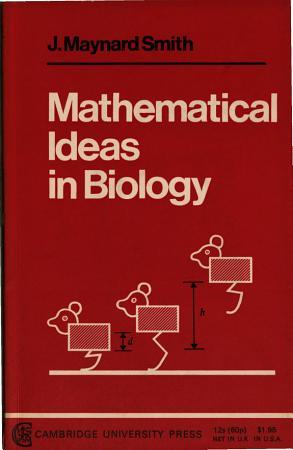 Mathematical Ideas in Biology PDF