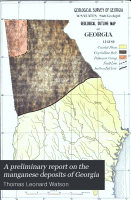 A Preliminary Report on the Manganese Deposits of Georgia PDF
