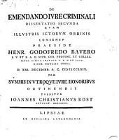 De Emendando Ivre Criminali