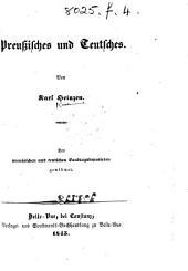 Preussisches und Teutsches