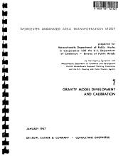 Worcester urbanized area transportation study   interim report no 7 PDF