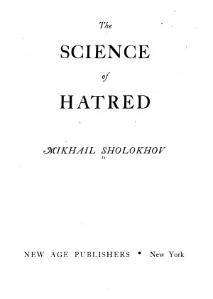 The Science of Hatred