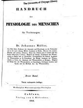 Handbuch der Physiologie des Menschen: für Vorlesungen, Band 1