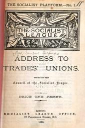 Address to Trades' Unions