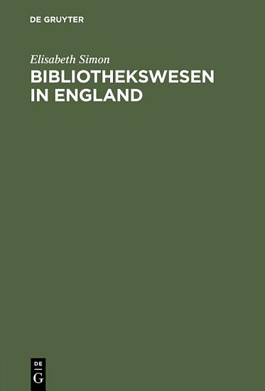 Bibliothekswesen in England PDF