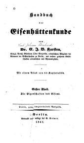 Handbuch der Eisenhüttenkunde: Band 1