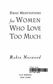 Daily Meditations for Women who Love Too Much PDF