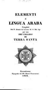 Elementi di lingua araba: compil. per uso dei Collegi di Terra Santa