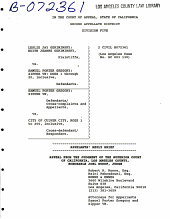 California. Court of Appeal (2nd Appellate District). Records and Briefs: B072361, Appellant's Reply