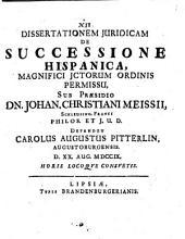 Diss. iur. de successione hispanica