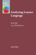 Analysing Learner Language