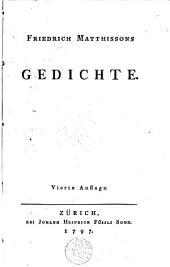 Gedichte /von Matthisson, Friedrich