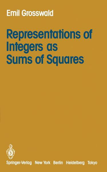Representations of Integers as Sums of Squares