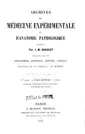 Archives de médecine expérimentale et d'anatomie pathologique: Volume7