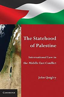 The Statehood of Palestine Book