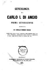 Genealogia di Carlo 1. di Angio prima generazione scritta da Camillo Minieri Riccio