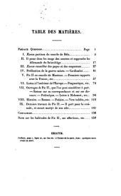 Essai sur Aeneas Sylvius Piccolomini