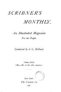 SCRIBNER'S MONTHLY