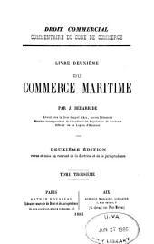 Du commerce maritime: Volume 3