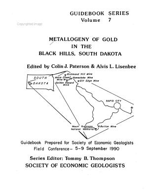Metallogeny of Gold in the Black Hills, South Dakota