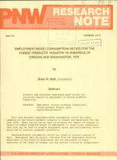 Employment:wood consumption ratios for the forest products industry in subareas of Oregon and Washington, 1976