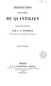 Institution oratione de Quintilien, 2