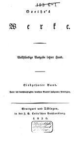 Goethe's Werke: Band 17