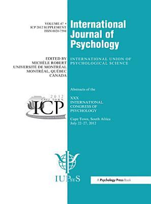 XXX International Congress of Psychology  Abstracts PDF