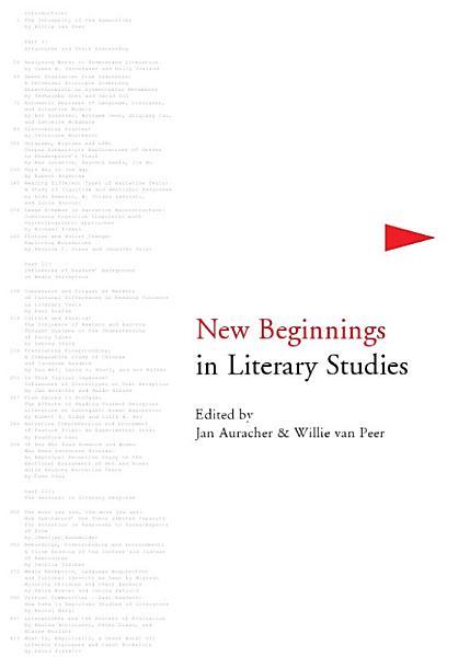 Download New Beginnings in Literary Studies Book