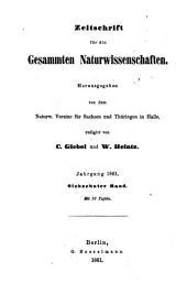 Zeitschrift für Naturwissenschaften: Band 17