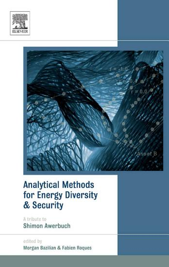 Analytical Methods for Energy Diversity and Security PDF