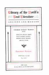 Library of the World's Best Literature, Ancient and Modern: Volume 24