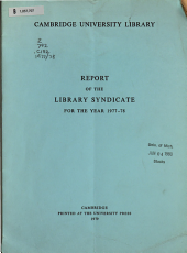 Report of the Library Syndicate PDF
