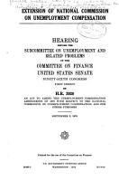 Extension of National Commission on Unemployment Compensation PDF