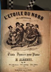 L' etoile du nord de G. Meyerbeer: trois danses pour piano ; op. 10. Polka, Volume 3