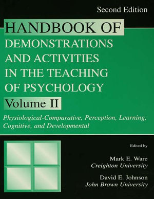 Handbook of Demonstrations and Activities in the Teaching of Psychology  Second Edition PDF