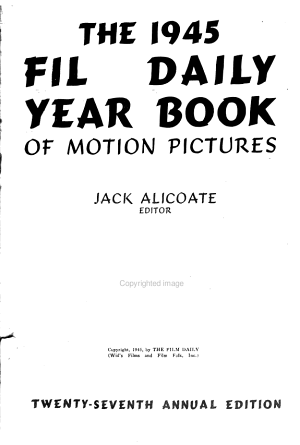 The 1945 Film Daily Year Book of Motion Pictures PDF