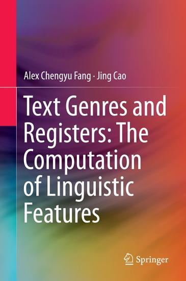 Text Genres and Registers  The Computation of Linguistic Features PDF