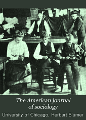 The American Journal of Sociology: Volume 9